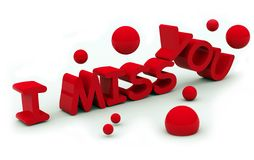 I miss you text Stock Images