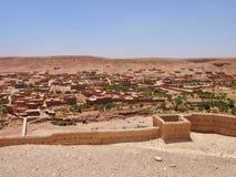 I mitt av Ait Benhaddou Ksar av denBen-Haddouold staden arkivfoto