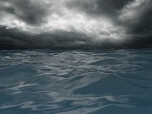 I mitt av orkanen royaltyfri illustrationer