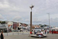 I mitten av Stavanger Norge, Europa Arkivbilder