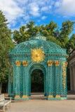 I mobili da giardino reali nell'insieme del parco e del palazzo di Sanssouci, Potsdam, Germania Fotografie Stock