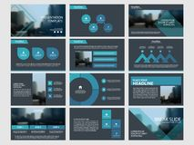 I modelli astratti blu della presentazione, progettazione piana del modello degli elementi di Infographic hanno messo per l'opusc illustrazione vettoriale