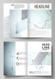 I modelli di affari per Bi piegano l'opuscolo, l'aletta di filatoio, rapporto Riguardi il modello di progettazione, disposizione  Fotografia Stock Libera da Diritti
