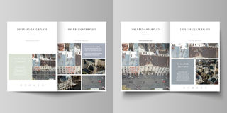 I modelli di affari per Bi piegano l'opuscolo, la rivista, l'aletta di filatoio, rapporto Riguardi il modello di progettazione, d Fotografia Stock