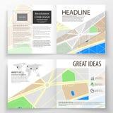 I modelli di affari per Bi quadrata piegano l'opuscolo, la rivista, l'aletta di filatoio, rapporto Copertura dell'opuscolo, dispo Fotografia Stock