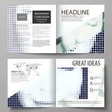 I modelli di affari per la Bi quadrata di progettazione piegano l'opuscolo, la rivista, aletta di filatoio Copertura dell'opuscol Immagine Stock Libera da Diritti