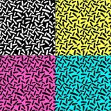 I modelli di ripetizione senza cuciture disegnati a mano con le forme astratte spazzolano i colpi Fotografia Stock Libera da Diritti