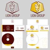 I modelli di vettore di logo del leone hanno messo per il vostro affare Fotografie Stock Libere da Diritti