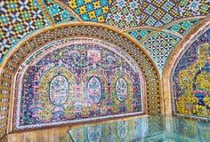I modelli floreali di Karim Khani Nook, Golestan, Teheran Fotografia Stock Libera da Diritti