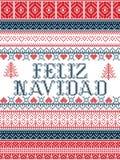 I modelli senza cuciture di Natale di vettore di stile di Feliz Navidad Nordic hanno ispirato dal Natale scandinavo, l'inverno fe royalty illustrazione gratis