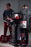 I modelli sulla pista a Sanchez-Kane mostrano Fotografia Stock Libera da Diritti