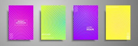I modelli variopinti del cartello hanno messo con gli elementi geometrici grafici Applicabile per gli opuscoli, alette di filatoi illustrazione vettoriale