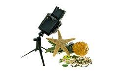 I monili di costume e della macchina fotografica Fotografie Stock