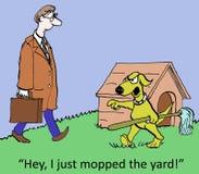 I mopped the yard Stock Image