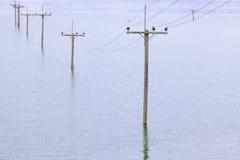 i morgon varm krisjordflod Fotografering för Bildbyråer