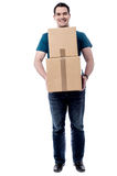 I am moving this boxes. Royalty Free Stock Image