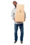 I am moving to new place. Stock Image