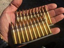 I 5 munizioni di 56Ã-45mm Fotografie Stock Libere da Diritti
