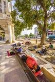 I muratori si rilassano al posto di Connaught Fotografia Stock
