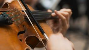 I musicisti giocano i violini nella società filarmonica archivi video