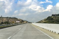 I and my colleagues try out new highway. royalty free stock photography