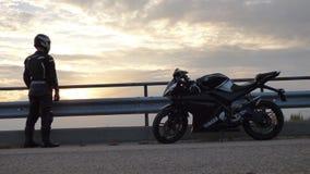 I and my motorbike stock photo