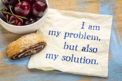 I am my problem and solution Stock Photography