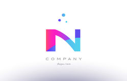 in i n  creative pink blue modern alphabet letter logo icon temp Royalty Free Stock Images