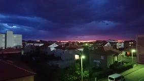 In i natten Arkivbild