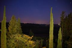 I natten Toscana Royaltyfria Foton