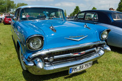 I naturlig storlek bil Chevrolet Bel Air Sedan Arkivbild