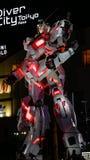 I naturlig storlek Gundam i Tokyo, Japan royaltyfri foto