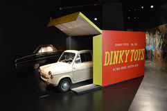 I naturlig storlek leksakbil på Museo dell'Automobile Nazionale Royaltyfri Foto