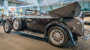 I naturlig storlek lyxig bilMercedes-Benz 770K Cabriolet D (W07), 1931 Fotografering för Bildbyråer