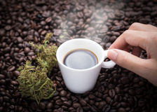 I need cannabis coffee Royalty Free Stock Images