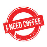 I Need Coffee rubber stamp Stock Photography