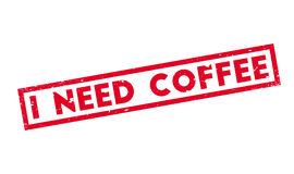 I Need Coffee rubber stamp Royalty Free Stock Photos