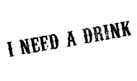 I Need A Drink rubber stamp. Grunge design with dust scratches. Effects can be easily removed for a clean, crisp look. Color is easily changed Royalty Free Stock Photos
