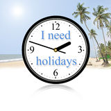 I need holidays. In some beautiful paradise Stock Photography