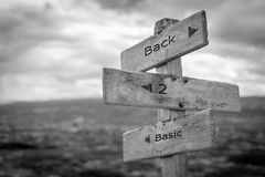 Back 2 basic signpost. royalty free stock image