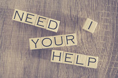 I Need Your Help message Stock Photo