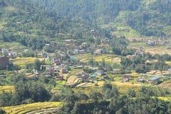By i Nepal. royaltyfri foto