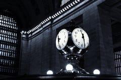 11:30 i New York, blått Fotografering för Bildbyråer