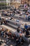 I Newyorkesi godono del tempo all'alta linea parco Immagine Stock Libera da Diritti