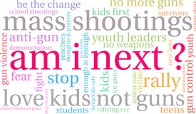 Am I Next Word Cloud. On a white background Royalty Free Stock Photo