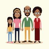 i nonni generano insieme e figlia illustrazione vettoriale