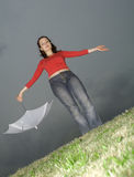 I am not afraid of a rain Stock Photo