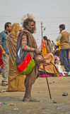 A sadhu in kumbh 2013 in allahabad Royalty Free Stock Photo