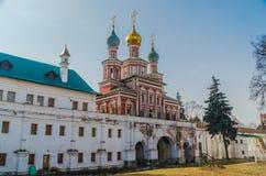 I novodevichiy kloster Royaltyfri Fotografi