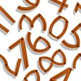 I numeri di legno hanno ombreggiato il reticolo Fotografie Stock